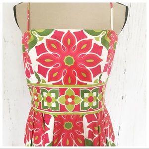 Maggy London Geometric Print Halter Dress